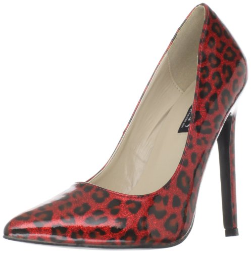 Pleaser Women's Sexy-20/RPCP Pump,Red Pearlized Patent,8 M (Sexy Red Patent Shoes)