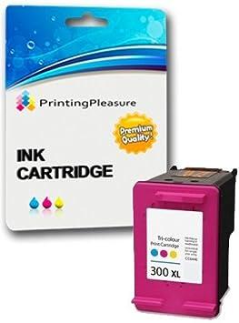 Printing Pleasure XL Compatible HP 300XL Cartucho de Tinta para Deskjet D1660 D1663 D2530 D2545 D2560 D2660 D5560 F2400 F2420 F2480 F4210 F4280 F4580 Photosmart C4780 C4680: Amazon.es: Electrónica