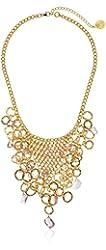 Devon Leigh Pink Hydro Quartz Bib Necklace