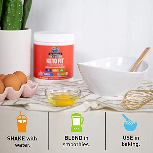 Garden of Life Dr. Formulated Keto Fit Weight Loss Shake - Vanilla Powder, 10 Servings, Truly Grass Fed Butter & Whey Protein, Studied Ingredients & Probiotics, Non-GMO, Gluten Free, Ketogenic, Paleo 9