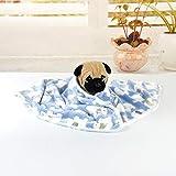 wanshenGyi Pet Blanket, Cartoon Elephant Panda Warm Soft Flannel Carpet Cat Dog Puppy Pet Blanket Quilt - 4060cm Elephant Blue, Home Life, Travel
