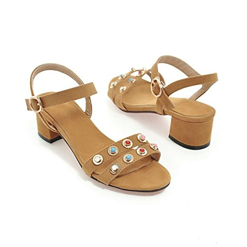 SK Studio - Zapatos con tacón Mujer amarillo