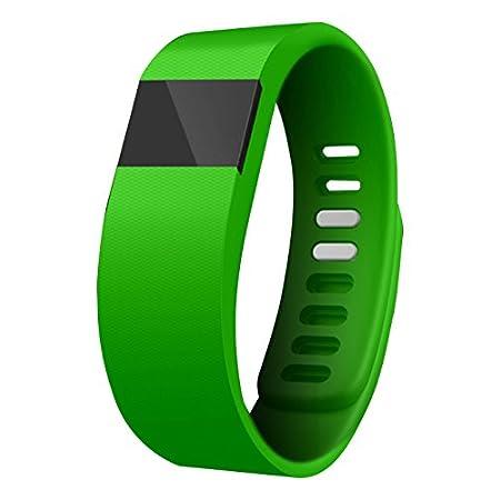 Best fitness trackers Zenixx 815416020531 Glow in The Dark Activity Tracker Pro, Green