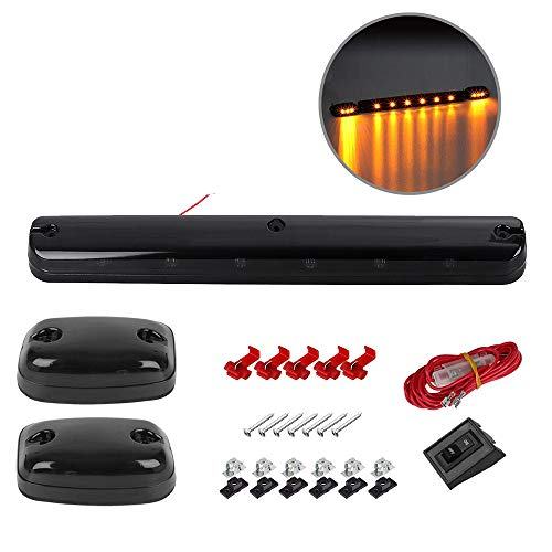- 3PCS Amber LED Cab Roof Marker Light Running Top lights For Trucks Assembly+Wire Harness Replacement For 2002 2003 2004 2005 2006 2007 Chevrolet Silverado GMC Sierra 1500 1500HD 2500 2500HD 3500