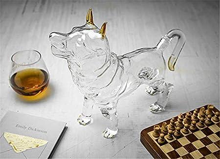 Decantador En Forma De Caballo De Whisky, Decantador De Vino Tinto, Adecuado para Licores, Escocia, Borbón, Vodka 1000Ml,1,1000ml