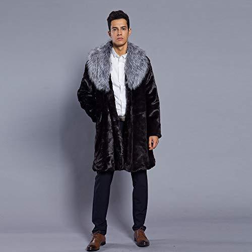 Coat Fake Parka In Fur Man Aimee7 Jacket Cardigan Collar Silver Thick wqAgxRX