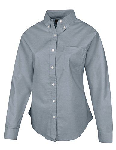 Women's 60/40 Stain Resistant Long Sleeve Oxford Shirt (up to size 4X)