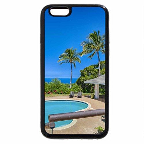 iPhone 6S / iPhone 6 Case (Black) Blue Pool Hawaii