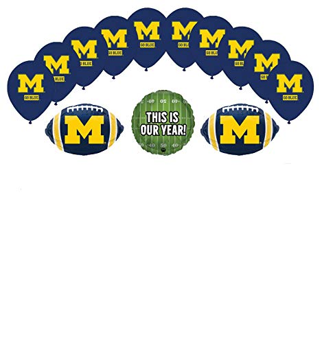 Mayflower Products Michigan Wolverines Football Tailgating Party Supplies Balloon Bouquet Decorations