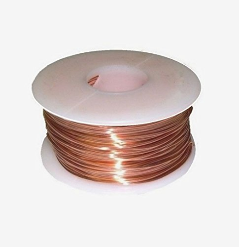 18 Ga Solid Copper Round Wire 100 Ft. 1/2 Lb. Spool (Half Hard) Pack Of 1