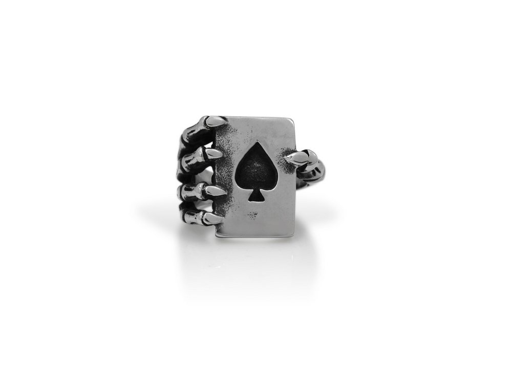The Biker Metal 316L Stainless Steel Skull Poker Ring for Harley Rider Motor Biker TR-134 (13)