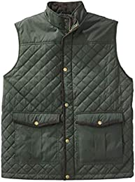 Men Big Tall Quilted Vest Olive Tall 2xl