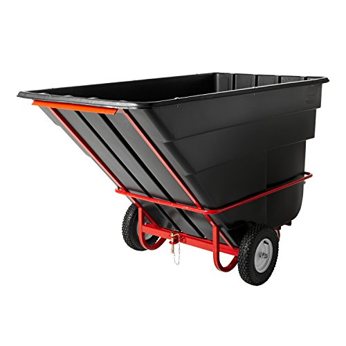 Rubbermaid Commercial Towable Tilt Truck, 1-1/2 Cubic Yard, Black, FG131641BLA - 1 1/2 Cubic Yard