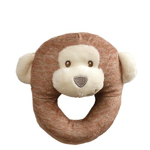 Baby GUND Playful Pals Monkey Stuffed Animal Plush Rattle Toy, 4.5