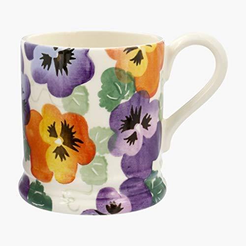 Emma Bridgewater Purple Pansy Half Pint - Flowers 1/2 Pint Mug