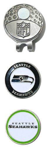 NFL Seattle Seahawks Cap Clip With 2 Golf Ball (Seattle Seahawks Clip)