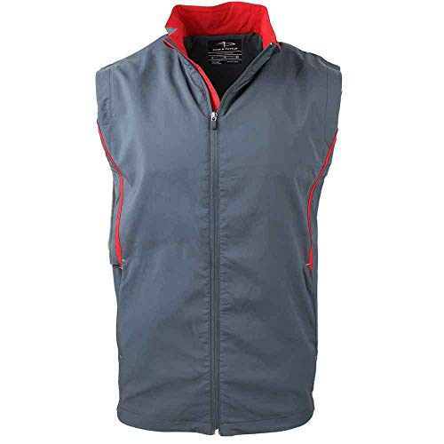 PAGE & TUTTLE Mens Side Panel Colorblock Vest Golf Athletic Outerwear Vest Grey L