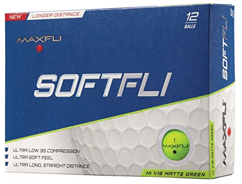 Maxfli SoftFli Matte Golf Balls - Green