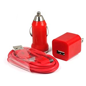 Aobiny cell phone cables RD Car Charger+USB Data Cable+US Charger For iPod iPhone 4G 4S 3G 3GS