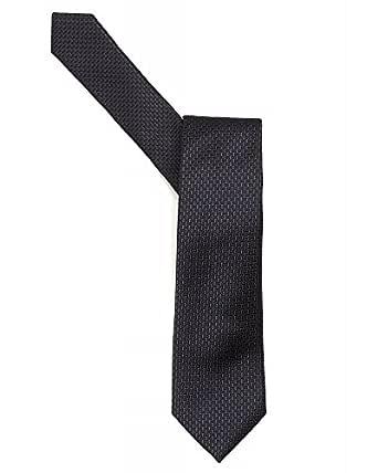 Armani Collezioni corbata azul marino negro Mini ladrillos corbata ...