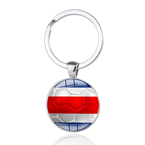4da9155cc36 2018 FIFA World Cup - Costa Rica National Flag Football Pattern Keychain