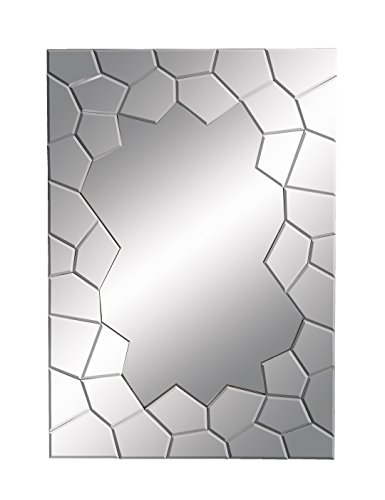 Deco 79 Contempo Looking Glass Mirror with Cracked Edges