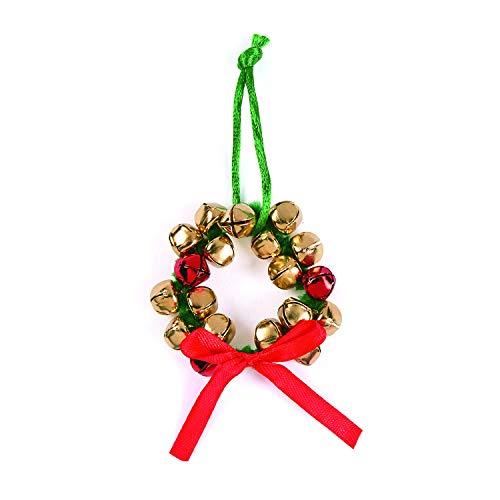 Fun Express Jingle Bell Wreath Ornament Craft Kit for Christmas (Makes 12) Ornament Craft Kits, Jingle Bells, Christmas