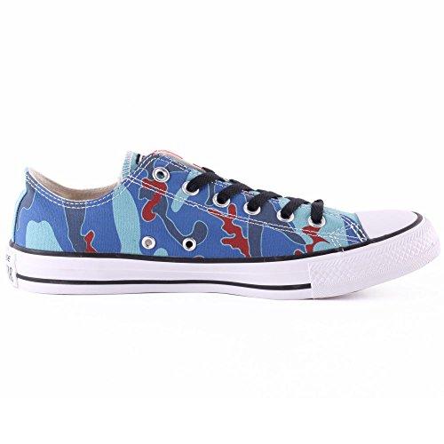 Converse Mandrin Taylor Warhol Ox Cheville Haute Toile Sneaker De Mode Nil Bleu / Bleu