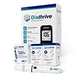 Diathrive Diabetes Blood Sugar Kit – Diathrive Blood Glucose Meter, 600 Blood Test Strips, 1 Lancing Device, 30 Gauge Lancets-200 Count, Control Solution, Logbook, and Carrying Case