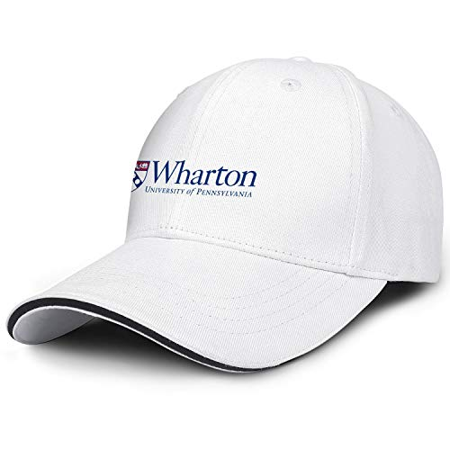 (Unisex University-of-Pennsylvania-Wharton-Logo- Baseball Cap Men Women - Classic Adjustable Hat)