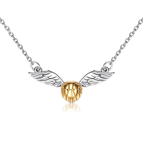 EOVE Jewelry Sterling Silver Quidditch Costume Cute Gold Plated Flying Golden Snitch Pendant Necklace Gifts For Women or (Cute Graduation Decorations)