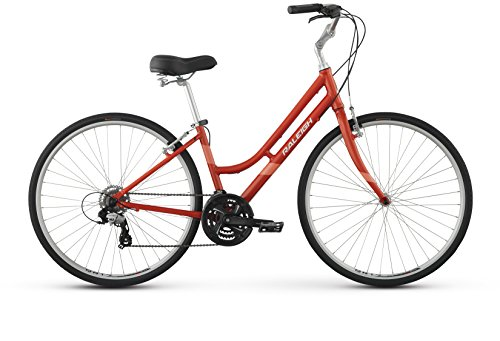 Raleigh Detour 2 Step Thru Comfort Bike, 19″ /Lg Frame, Red, 19″ / Large