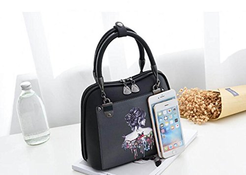 GSHGA Bolsos De La Impresión De La Moda Bolsa De Hombro Pintada Personalidad Messenger Bag Mujeres Bolsas A