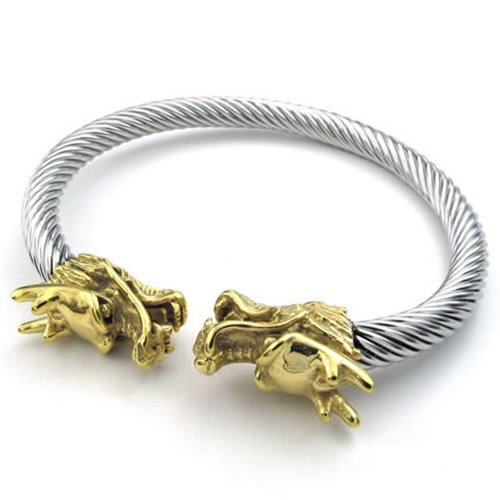 KONOV Stainless Bracelet Gothic Dragon