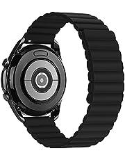 Tasikar 20 mm armband kompatibelt med Samsung Galaxy Watch 4/Watch 3 41 mm/Huawei Watch GT 2 armband, silikon magnetlås [dubbelsidig bärbar] klockarmband för Galaxy Watch 42 mm