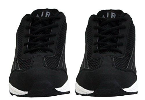 Hommes Chocs Cours Pointures 7 Chaussures Blanc Sport D'exécution Fitness Formateurs Absorbant 12 En Gymnase En Baskets Tech Les Dentelle Noir Anglaises Air f4wYxE