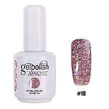 YESURPRISE 1 x 15ml Nail Art Soak off Gel Polish UV LED Glitters Lacquer DIY Manicure Decoration #18