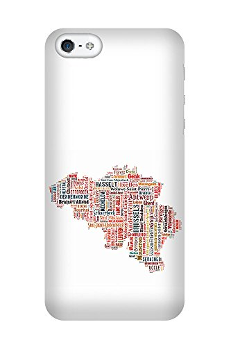 iPhone 4/4S Coque photo - Belgique Carte