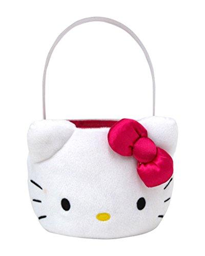 Hello Kitty Plush Basket, Medium