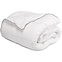 "Bedsure King Comforter Duvet Insert with Corner Ties-Quilted Down Alternative Comforter Box Stitching Design White 102""x90"""