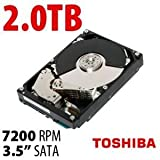 TOSHIBA 2TB 7200RPM 64MB Cache SATA 6.0Gb/s 3.5'' Internal Hard Drive Bare Drive Model DT01ACA200