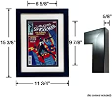 Picture Framing Mat for 2 Comic Books  Black with white