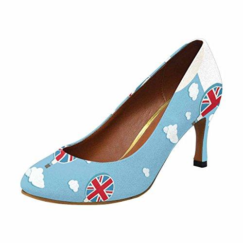 Womans Stile Classico Womens Classico Tacco Alto Pompa Pompa Regno Unito Mongolfiere