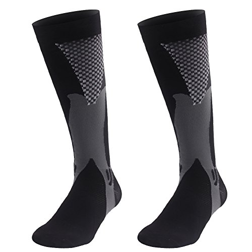 Graduated Compression Sock for Men Women Boost Performance Circulation Athletic Recovery Best for Running Nursing Black - Shop Soccer Review Uk