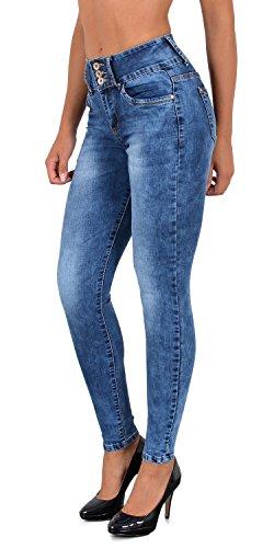 by-tex Jean Femme Skinny Pantalon Taille Haute Taille Basse Femmes Stretch Jeans # S500 J78