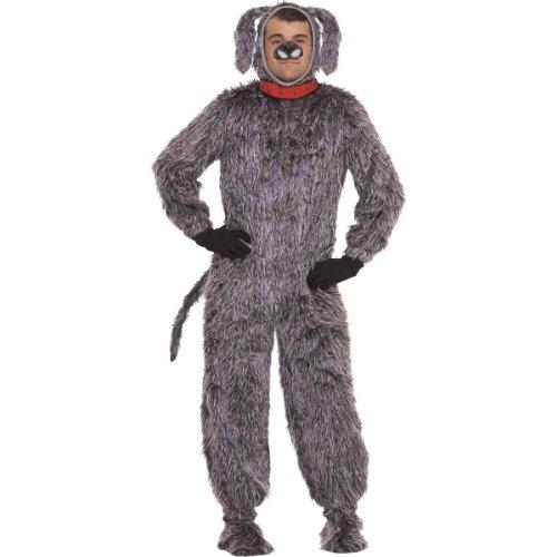 Forum Deluxe Plush Dog Costume, Gray, Standard -