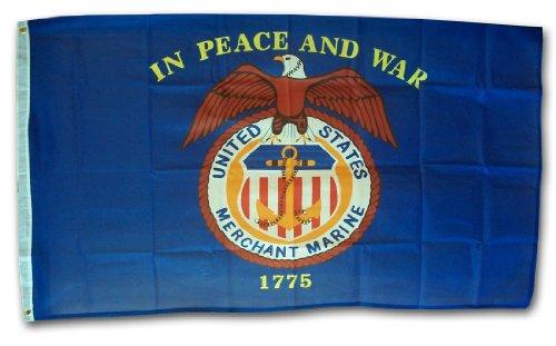 Merchant Marine - 3' x 5' Polyester Military Flag