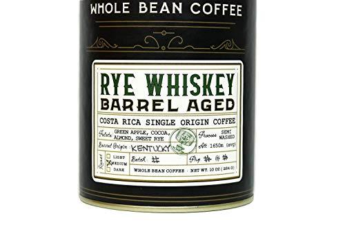 Rye Whiskey Barrel Aged Coffee Whole Bean Coffee Costa