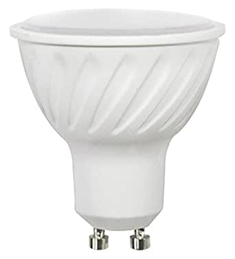 Wonderlamp W-B000007 - Bombilla LED SMD alta potencia GU10 Cristal Mate, 7 W