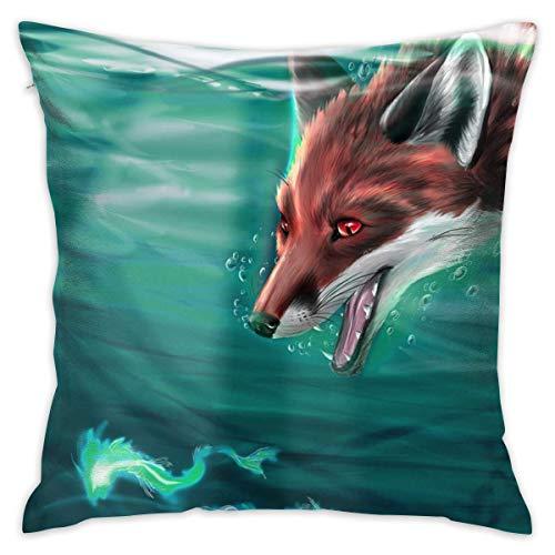 xiaodengyeluwd Hyper Cute Fox Decorative Throw Pillow Cover Home Eecor for Chair 18